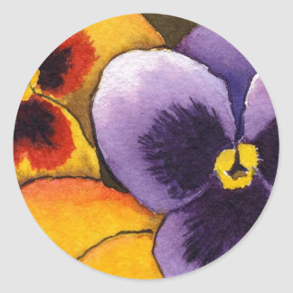 """""""Pansy #1"""" Floral Sticker"""