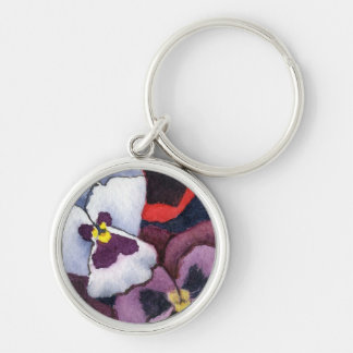 """""""Pansy 2"""" Floral Keychain"""