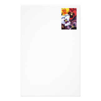 """""""Pansy #2"""" Floral Stationery"""