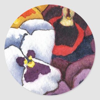 """""""Pansy #2"""" Floral Sticker"""
