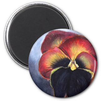 Pansy 2 Inch Round Magnet