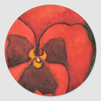 """""""Pansy #3"""" Floral Sticker"""