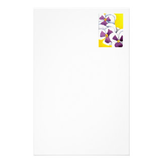 """""""Pansy #4"""" Floral Stationery"""