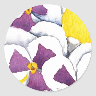 """""""Pansy #4"""" Floral Sticker"""