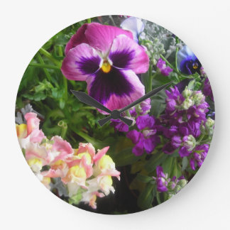 Pansy And Friends Wall Clock