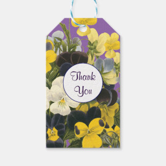 Pansy and Violets Custom Thank You Gift Tag