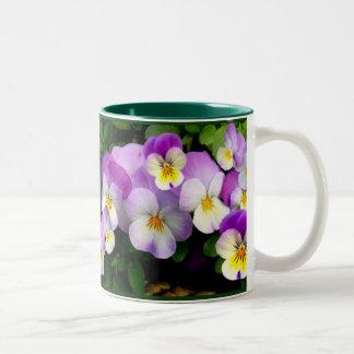 Pansy Basket ~ Travel Coffee Mug