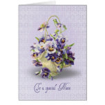 Pansy Birthday for Niece Card