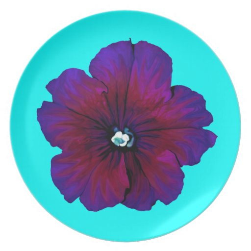 Pansy Bloom Party Plates