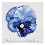 Pansy Blue Poster
