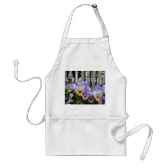 Pansy Blues Fence Garden Apron