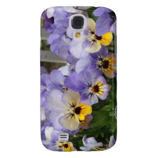 Pansy Blues Fence Samsung Galaxy S4 Cover