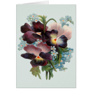 Pansy Bouquet Card Cards