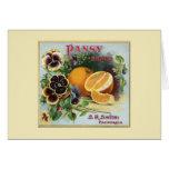 Pansy Brand Oranges Fruit Label