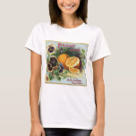 Pansy Brand Oranges Fruit Label T-Shirt