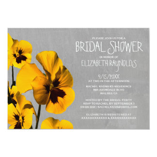 Pansy Bridal Shower Invitations
