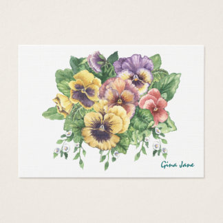 Pansy Business / Gift Enclosure SRF Business Card