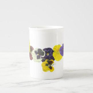 PANSY CLUSTER BONE CHINA Mug