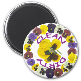 PANSY DELIGHT Dishwasher Magnet