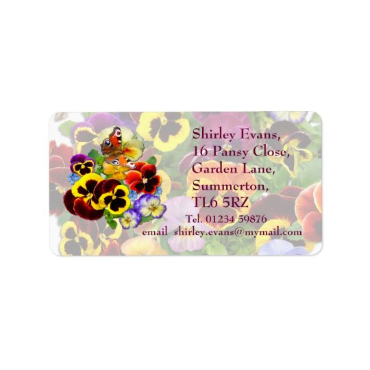 Pansy Display ~ Label # 2