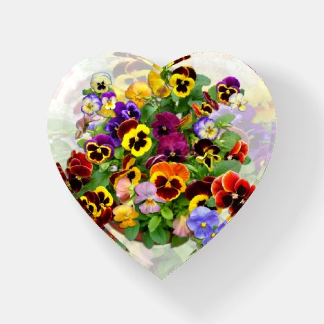 Pansy Display Paperweight