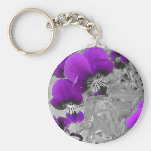 Pansy Effect Keychain