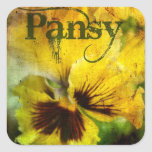 'Pansy' Envelope Seal Stickers