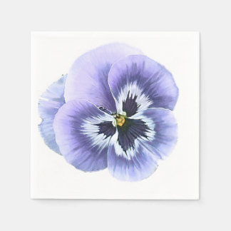 Pansy Face Purple Paper Napkin