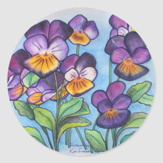 Pansy Faces sticker