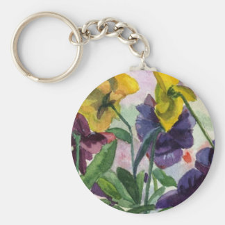 Pansy Field Key Chains