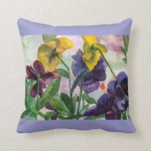 Pansy Field Throw Pillows