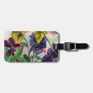 Pansy Field Travel Bag Tag