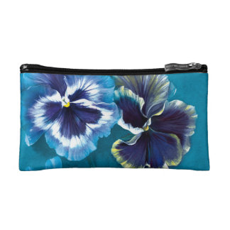 Pansy fine art Baguettes cosmetic bag