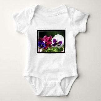 Pansy Flower baby shirt