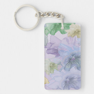 Pansy Flower Background Keychain