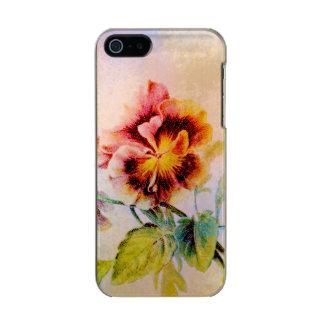 Pansy flower feminine for her metallic phone case for iPhone SE/5/5s