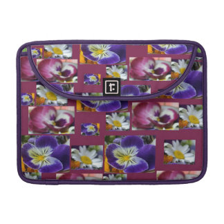 Pansy Flower Floral Collage Macbook Pro Flap Sleeves For MacBook Pro