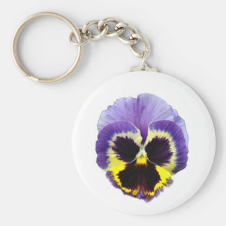 Pansy Flower Keychain