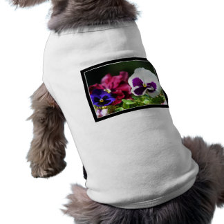 Pansy Flower Pet T Shirt