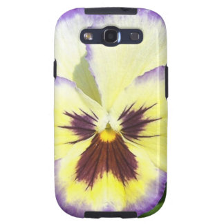 Pansy Flower Pictures Samsung Galaxy Case Galaxy SIII Cases