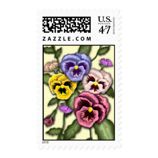 Pansy Flower Postage Stamp