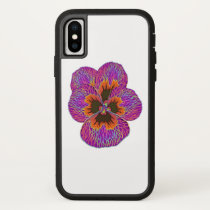 Pansy Flower Psychedelic Abstract iPhone X Case
