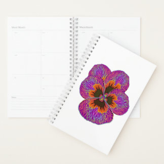 Pansy Flower Psychedelic Abstract Planner