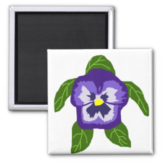 Pansy  FLOWER SEA TURTLE magnet