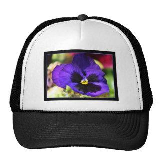 Pansy Flower Trucker Hat