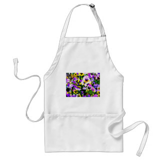 pansy flowers adult apron