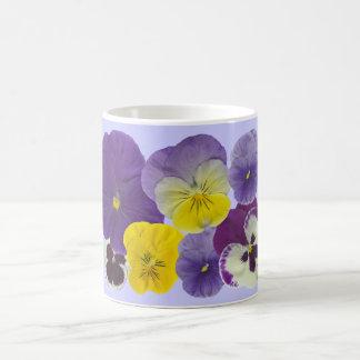 pansy flowers classic white coffee mug