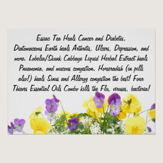 Pansy Flowers Creation Remedies: Be Healthy Poster