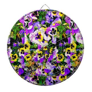pansy flowers dart board