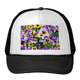 pansy flowers hats